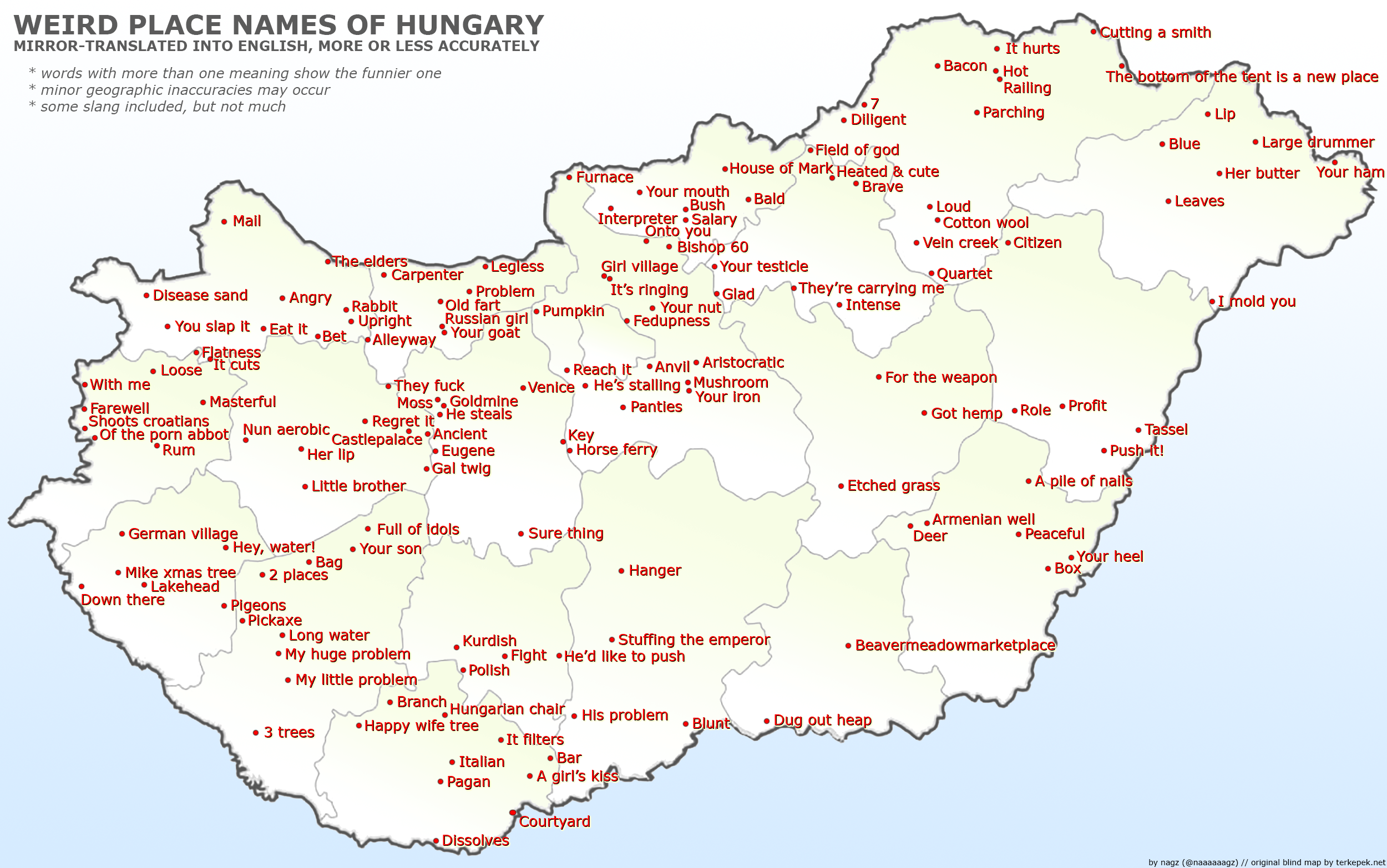 Weird Place Names of Hungary