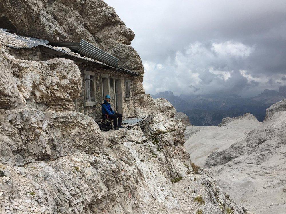 italy dolomites alpine shelter