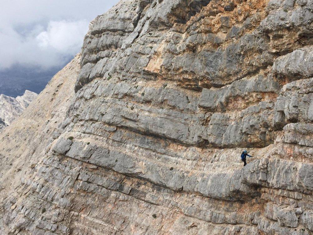 via ferrata rock dolomites cliff