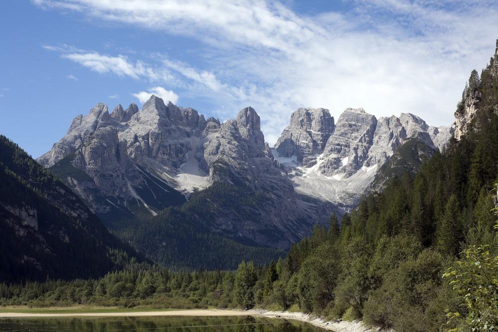 view of italian dolomites